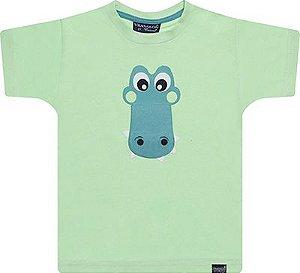 Camiseta tamanho 01 / 02 / 03 em malha penteada de primeira qualidade com Silk SMILE - COR VERDE