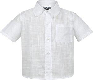 Camisa social tamanho 1 a 16 produzida em tecido plano 100% algodao de primeira qualidade. COR BRANCA FLAME