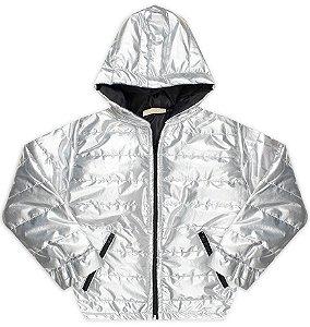 Jaqueta tamanho 1 a 16 em Nylon VRASALON | Shine- COR PRATA