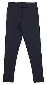 Calça tamanho 4 a 16 Legging Athletic flanelada- COR PRETA
