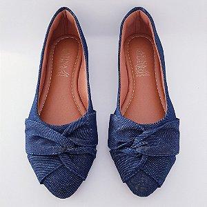 Sapatilha bico fino - azul jeans