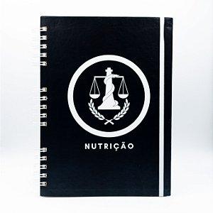 Caderno Universitário - Capa Preta Profissão Nutrição