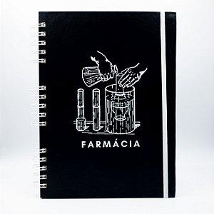 Caderno Universitário - Capa Preta Profissão Farmácia
