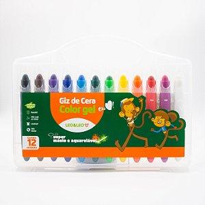 Giz de cera color gel c/12 cores