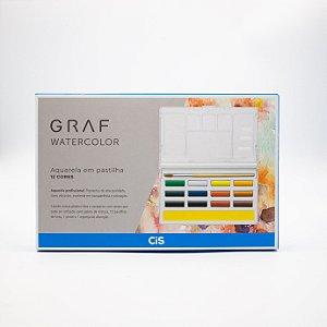 Graf Watercolor Aquarela em Pastilhas (12 Cores)