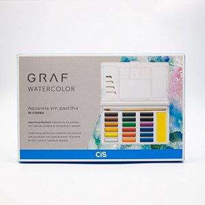 Graf Watercolor Aquarela em Pastilhas (18 Cores)