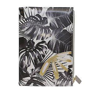Caderno A5 Capa c/ Estojo Bee Unique - Folhagem Preto e Branco for you- SL- NB0029