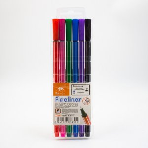 Caneta Fineliner Point  0.4mm C/6 -MJ