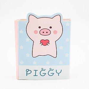 Bloco de Anotação  com  Cola  -  Piggy