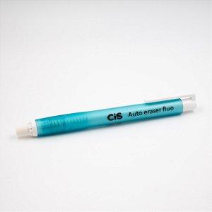 Caneta Borracha Auto Eraser Fluo CIS - azul