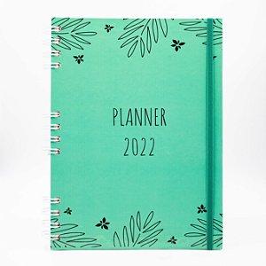 Agenda Semanal Planner 2022 - Capa Folhagem Verde (Datado)