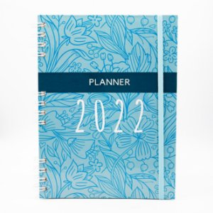 Agenda Semanal Planner 2022 - Capa Flor Azul (Datado)