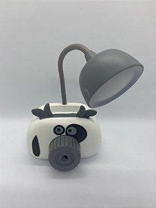 Luminária com Porta Lápis e Apontador Vaquinha