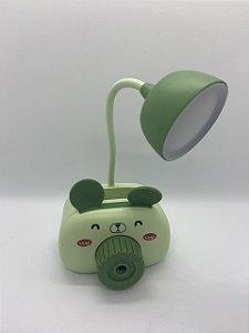 Luminária com Porta Lápis e Apontador Ratinho.