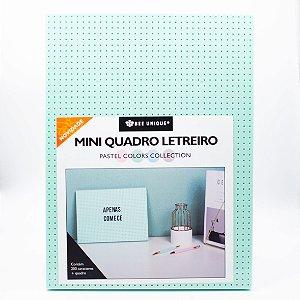 Mini Quadro Letreiro - Bee Unique- Verde