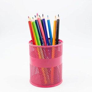 Porta Caneta Vazado - Pink