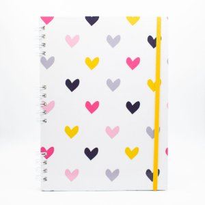 Caderno Universitário Espiral - Coração  - Collab @paula.chavess (Polén)