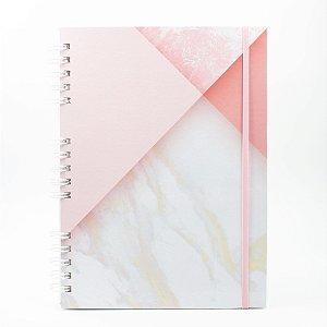 Caderno Universitário Espiral Capa Dura - Marmore Collab @paula.chavess