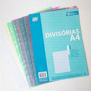 Divisórias Transparentes com visor A4 c/10 Unidades