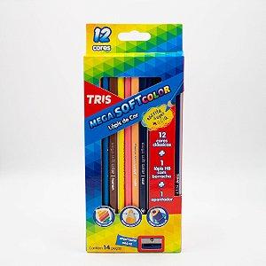 Lápis de Cor Mega Soft Color Tris com 14 Peças