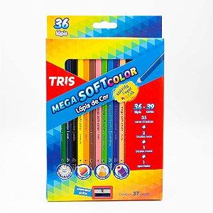 Lápis de Cor Mega Soft Color Tris com 37 Peças