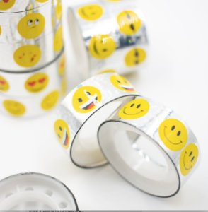 Fita Adesiva Decorativa  Washi Tape smile  kit c/10 und.