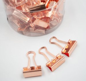 Binder Clips RoseGold 25mm  c/48pcs BN309