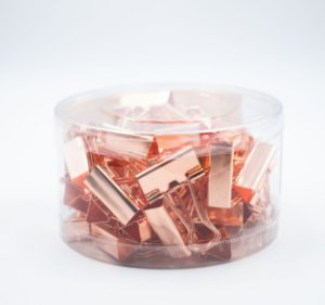 Binder Clips RoseGold 32mm  c/24pcs BN310