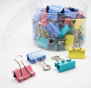 Binder Clips Coloridos Tons Pastel 19mm  c/40pcs BN317