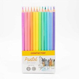 Lápis de Cor  Art Color Tons Pastel c/12 Compactor