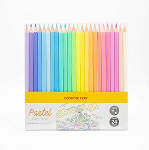 Lápis de Cor Art Color Tons Pastel c/24 Compactor
