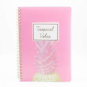 Caderno Espiral Tropical Vibes Rosa SL-NB0003