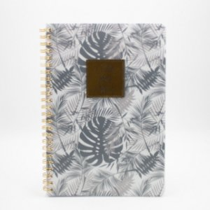 Caderno Espiral Floral Cinza I Can And I Will  SL-NB0006