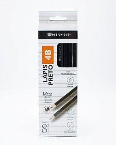 Lápis Preto 4B  Profissional c/8 unidades OD-PC0007