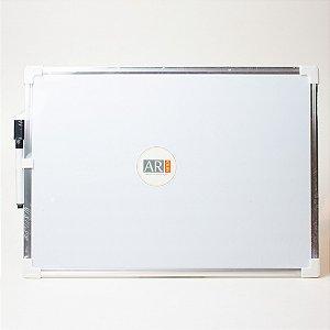 Lousa de Metal Quadro Branco c/ Caneta 25x36