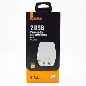 Carregador Auto- Identificador 2 USB  Basike Ba- Car0039 2.4A com Cabo de Iphone