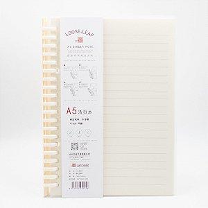 Caderno A5 C/70 Fls Removíveis Capa Transparente
