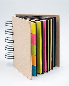 Bloco de Anotação Colorido C/ 6 páginas com adesivos Cores Neon