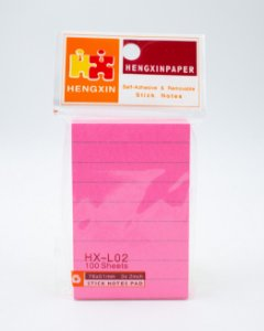 Bloco Autoadesivo c/ Pauta - Pink (76x51mm)