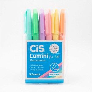 Marcador de Texto Cis Lumini Tons Pastel c/6