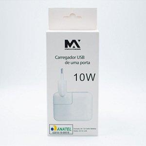 Carregador USB de uma Porta  2.4A  10W Maxmidia