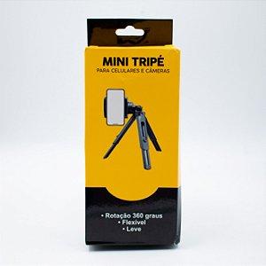 Mini Tripé Para Celulares e Câmeras Max- Tr001