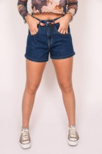 SHORTS MOM JEANS ESCURO