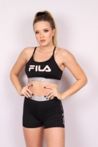 TOP FILA TRAIN ELASTIC II PRETO/PRATA