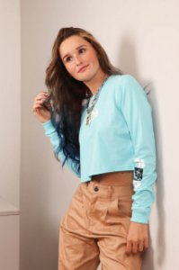 CAMISETA ML CROPPED TREK