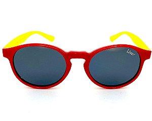Live! Infantil Bolha Vermelho/Amarelo, com Proteção UV 400.