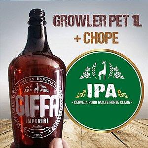 CHOPE GIFFA IPA em GROWLER PET 1L (Entregas apenas para São Paulo, Jundiai e região)