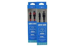 Cabo Inova 2.4A -Type C / USB CBO-5803 2 Metros + Nota Fiscal e Garantia