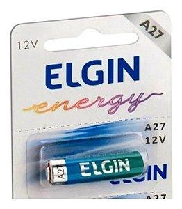 Pilha Bateria A27 27A 12v Alcalina Elgin