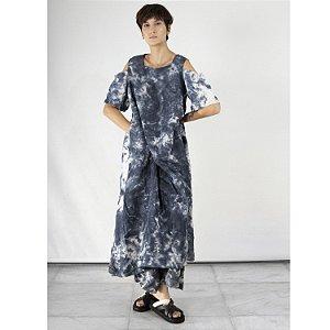Vestido Manguitos Pintado